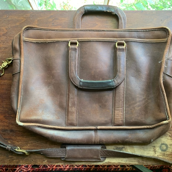Coach Handbags - Coach Leather Briefcase Laptop Bag